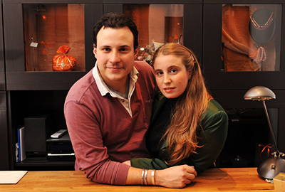 Luca e Silvia, il team dell'oreficeria di Roma Les Creations
