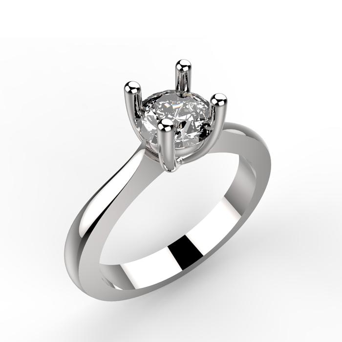 Anello solitario personalizzabile Alexander ring