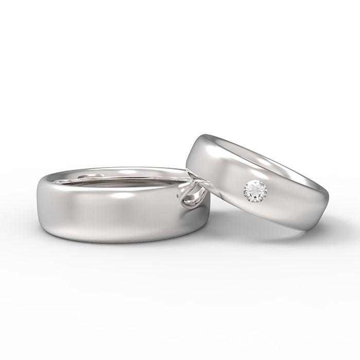 Favorito Fedi nuziali in oro bianco con diamante Maxi Wedding Rings FQ87