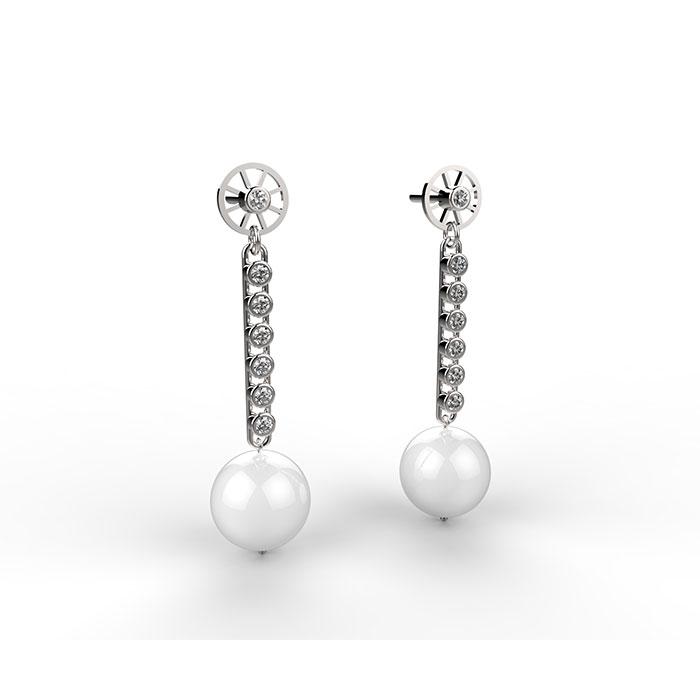 Josephine Earrings orecchini realizzati con perle e diamanti