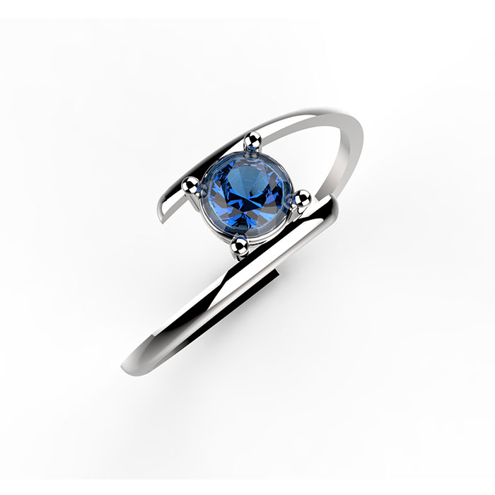 Anello in oro con zaffiro blu Matias Ring