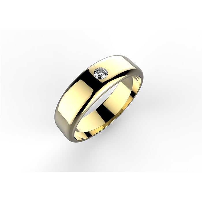 Anello personalizzabile in oro giallo e diamante Salvador ring