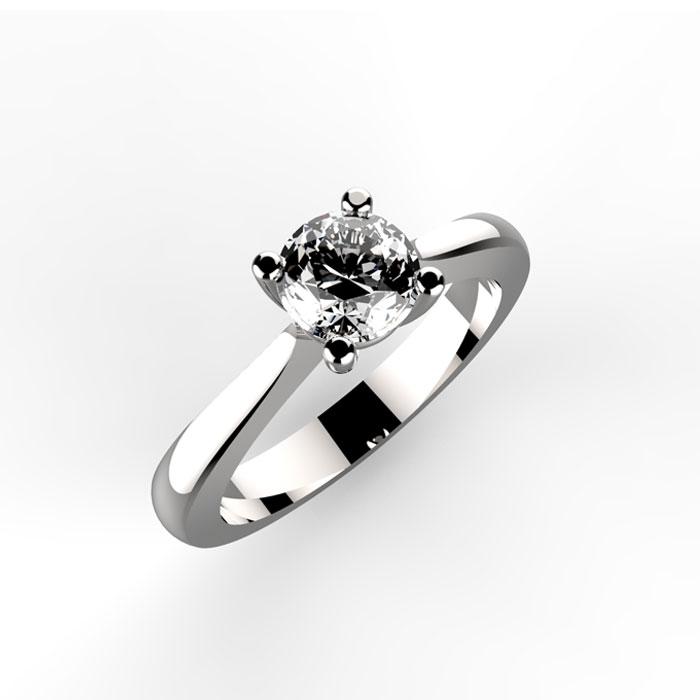 Anello solitario per fidanzamento alexander ring