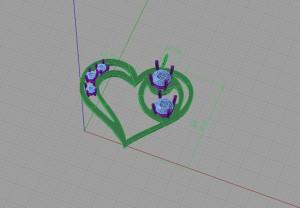 Esempio del progetto CAD di un ciondolo.