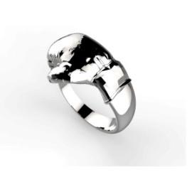 anello in argento o in oro boxe ring