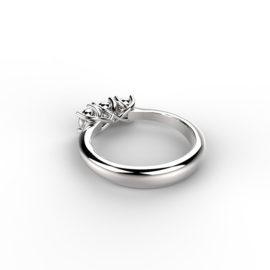 anello trilogy in platino o oro con diamante oreficeria Roma