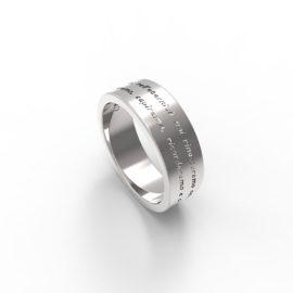 anello in argento o oro personalizzabile con frase