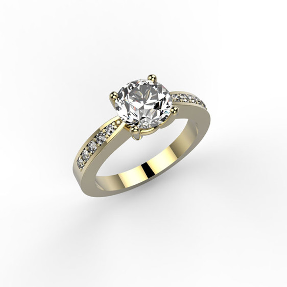 anello in platino con diamanti