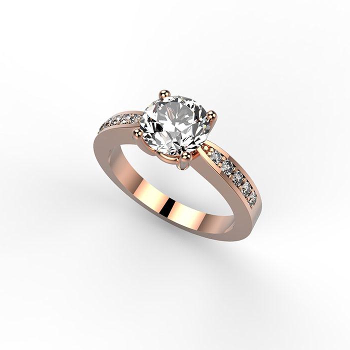 Anello in oro con diamanti a Roma e sullo store online