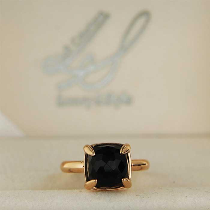 Anello in oro con onice nera Maximo ring