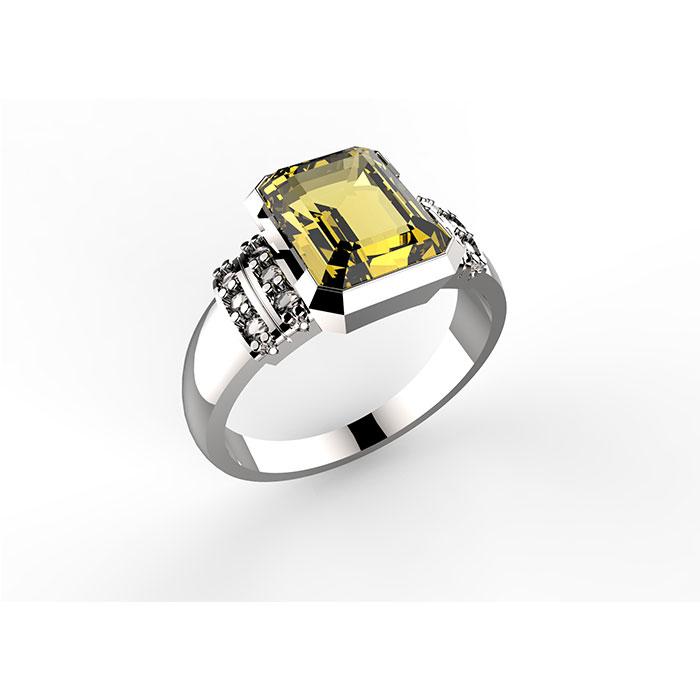 Anello in oro con citrino Mum Ring
