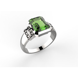 Anello in oro con peridoto Mum Ring