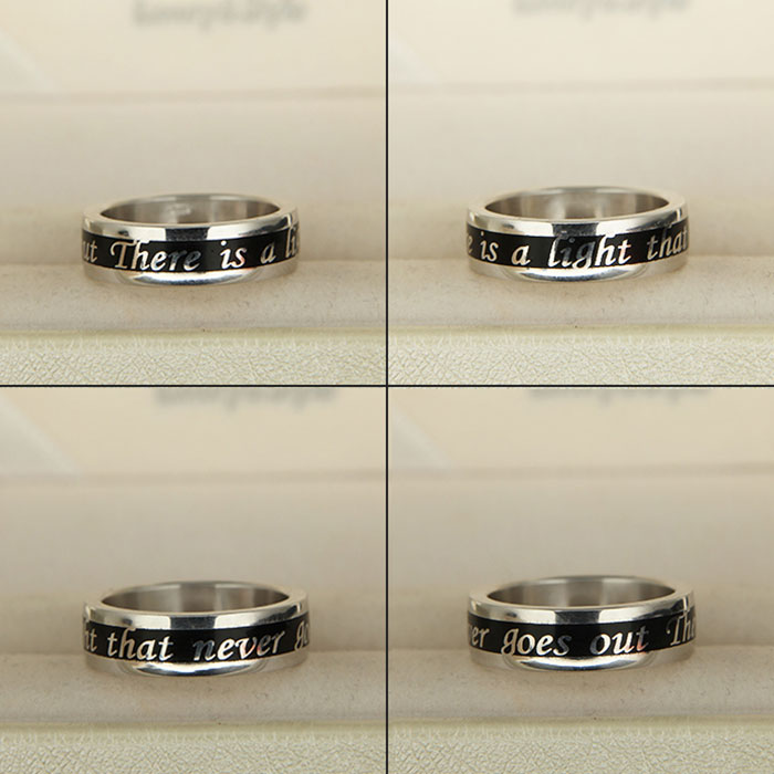 Anello in oro o argento con testo personalizzato Feel Ring