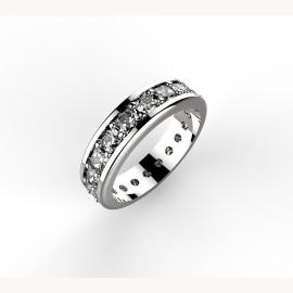 Anello in platino con diamanti Paradise Ring