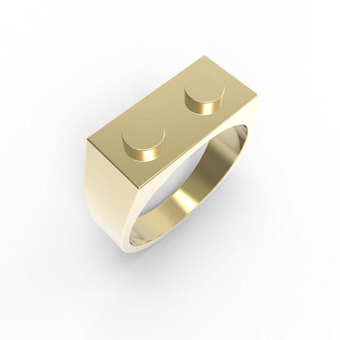 Anelli in oro Premium Brick Ring
