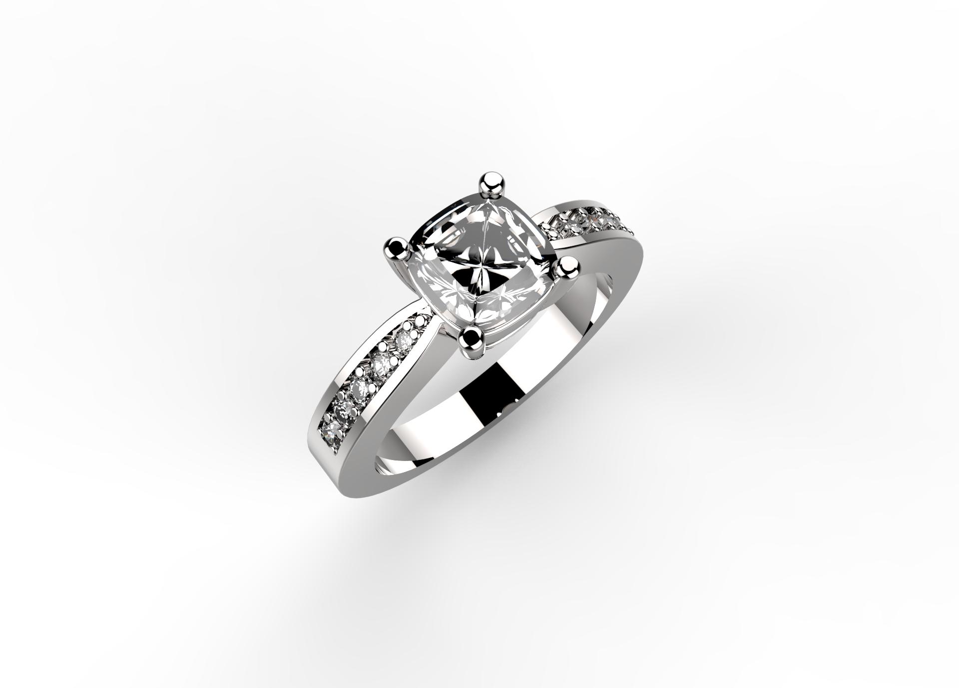 Anello in platino o oro e diamanti