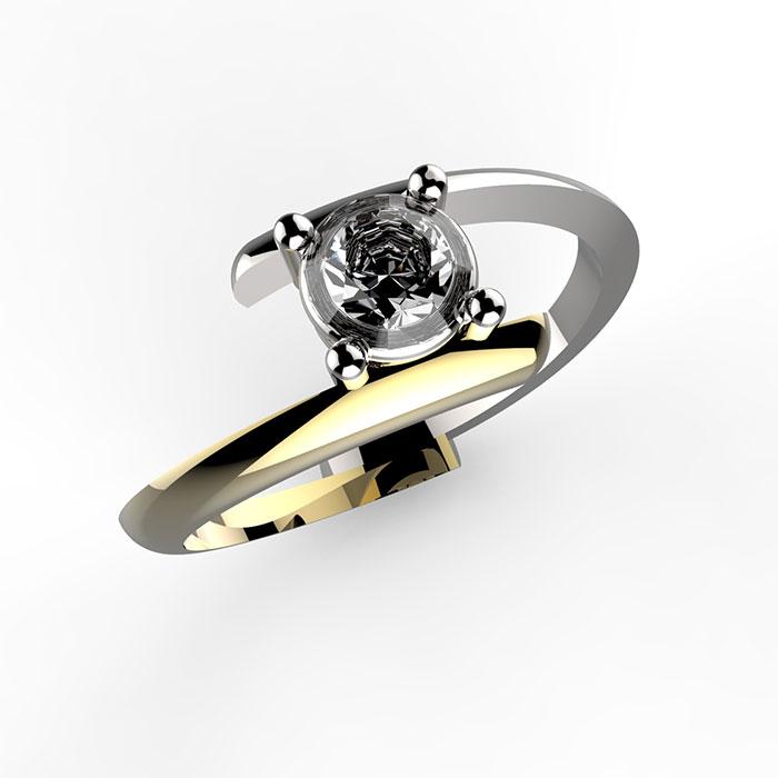 Anello in oro con diamante Carl Ring