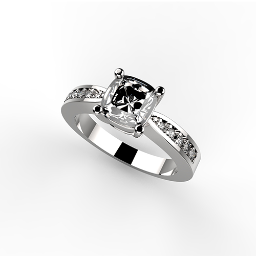 anello solitario Queen Ring