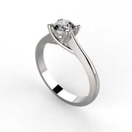 Anello Solitario in platino o oro per fidanzamento, anniversario o San Valentino