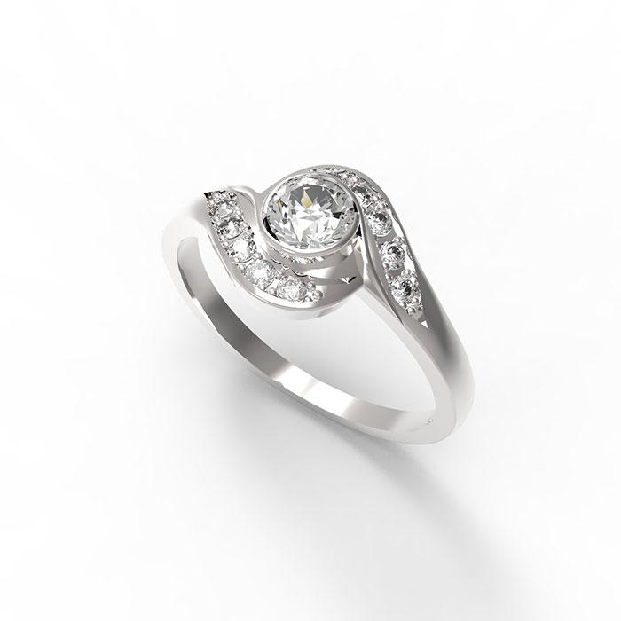 Meraviglioso Anello in platino con diamanti personalizzabile Tim Ring