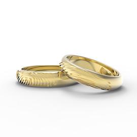 fedi in oro personalizzate con impronte digitali personali