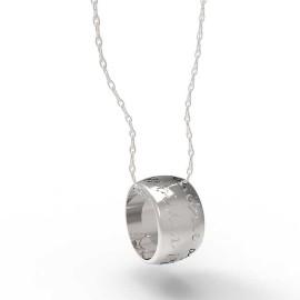 ciondolo in oro o argento con incisioni personalizzate White Paper Pendant