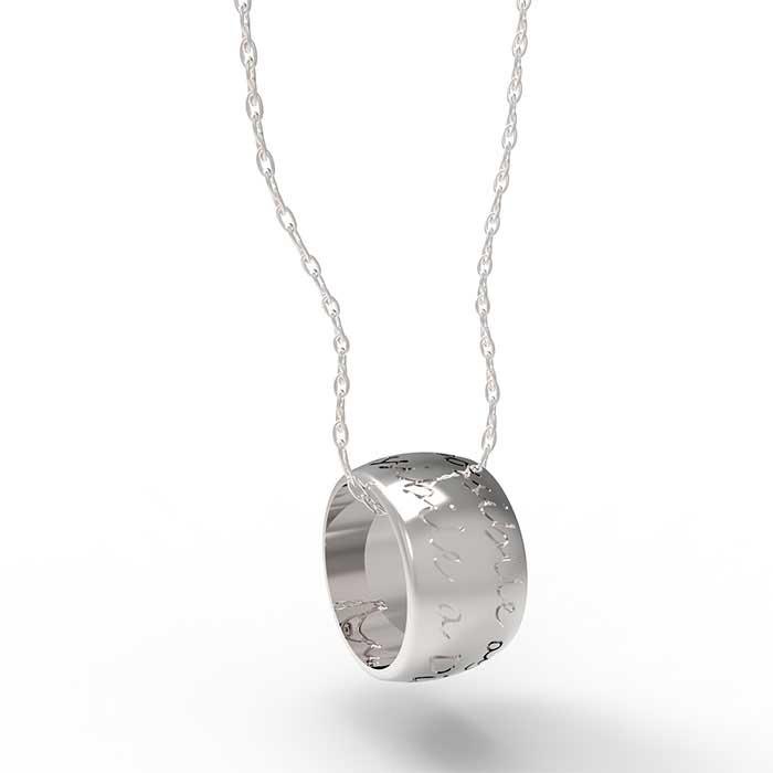 Favoloso Ciondolo in argento o oro con incisione White Paper Pendant YW43