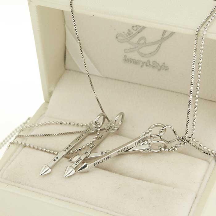 ciondolo in argento arrow pendant