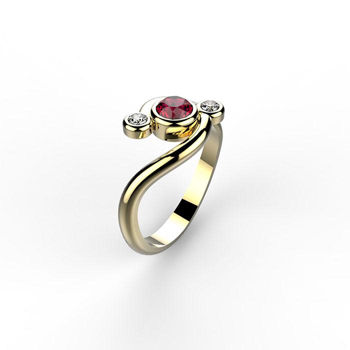 anello trilogy in platino o oro personalizzato a Roma