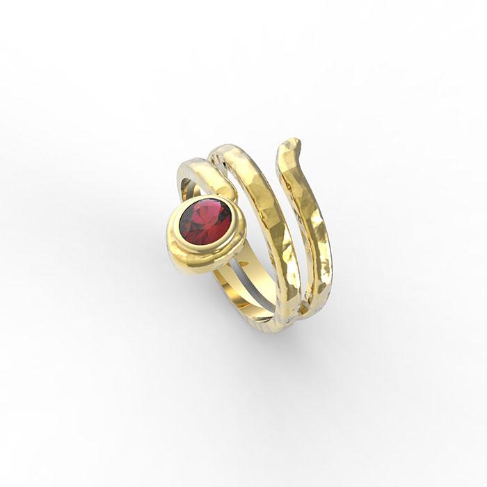anello a serpente in oro con pietre preziose a Roma e sullo store online