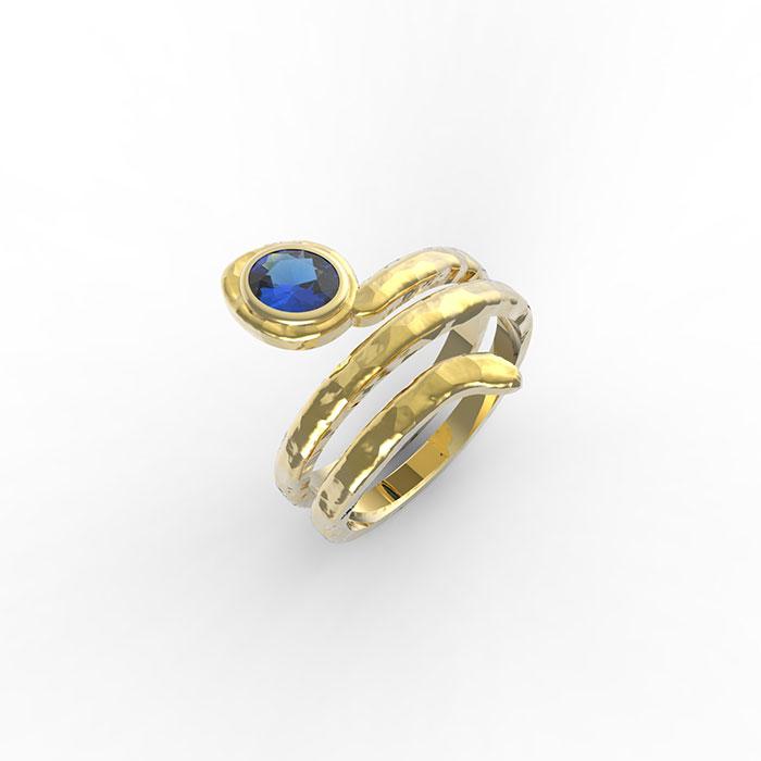 anello a serpente in oro con pietre preziose in vendita a Roma o sul nostro store online