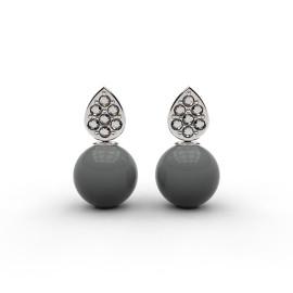 orecchini di perle con diamanti e oro bianco a Roma e online