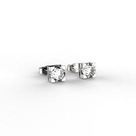 orecchini punto luce con diamanti