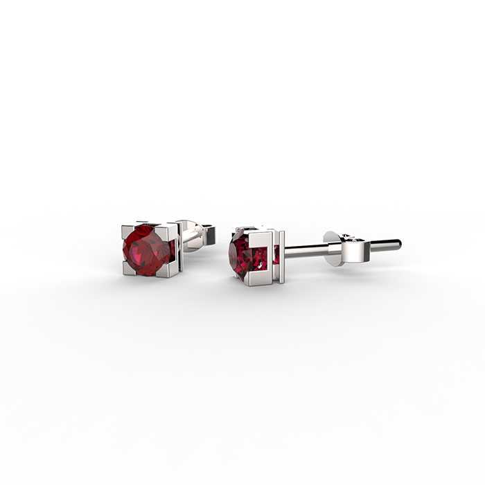 orecchini punto luce con rubini Roma
