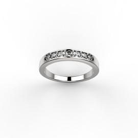anello in platino con diamanti personalizzato