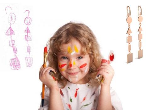 disegni dei bambini in gioielli