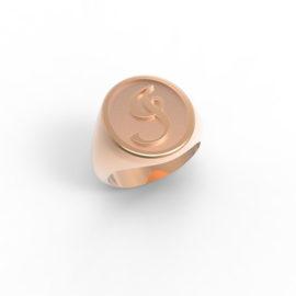 Anello chevalier personalizzato in oro o argento a Roma e online