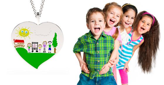 trasformare i disegni dei bambini in gioielli