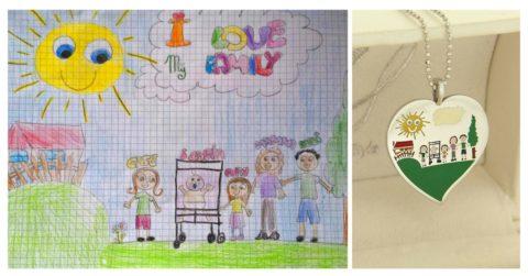 trasformare disegni bambini in gioielli