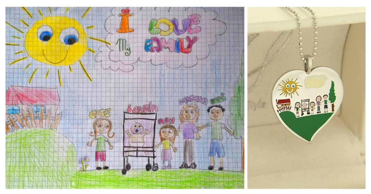 trasformare i disegni dei bambini in gioielli Roma