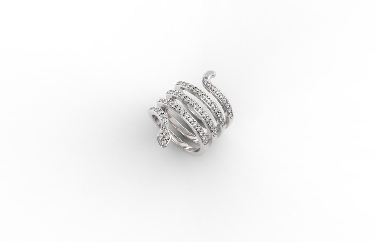 Anello serpente diamanti