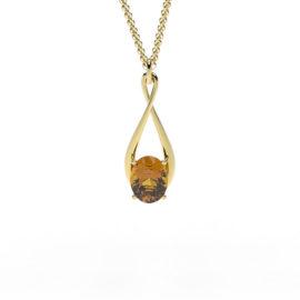 Ciondolo in oro con il simbolo dell'infinito Roma
