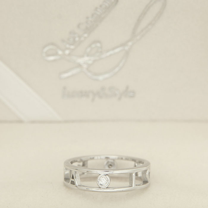 family ring - white gold