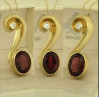 orecchini rubino