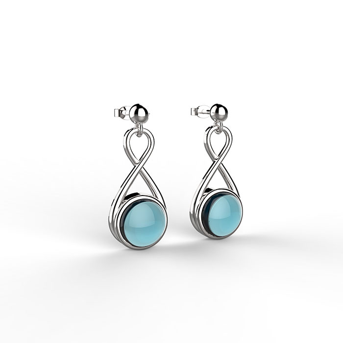 Infinity-Platinum-Earrings